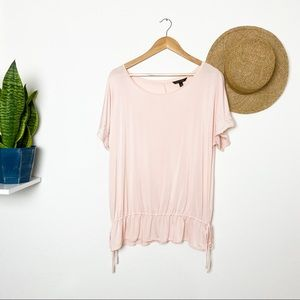 Banana Republic Rose Embroidered Scalloped Blouse